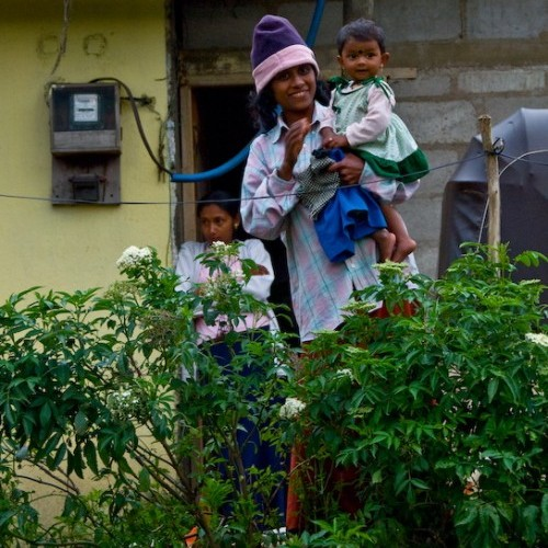 Tea picker's family, Nuwara Eliya, Hill Country, Sri Lanka