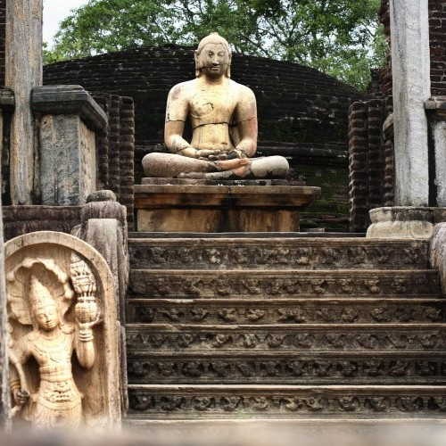 Sitting Buddha at Vatadage, Polonnaruwa, Sri Lanka