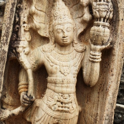 Guardstone at Vatadage, Polonnaruwa, Sri Lanka