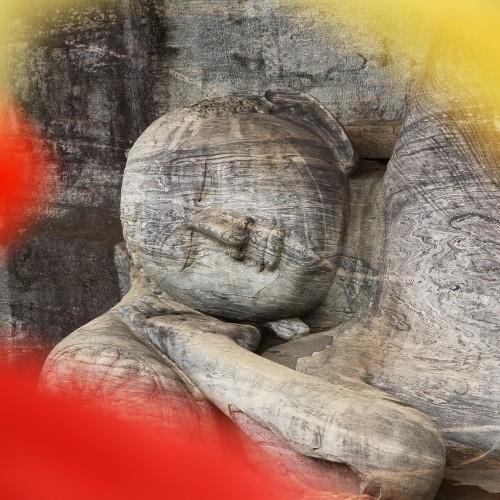 Reclining Buddha at Gal Vihara, Polonnaruwa, Sri Lanka
