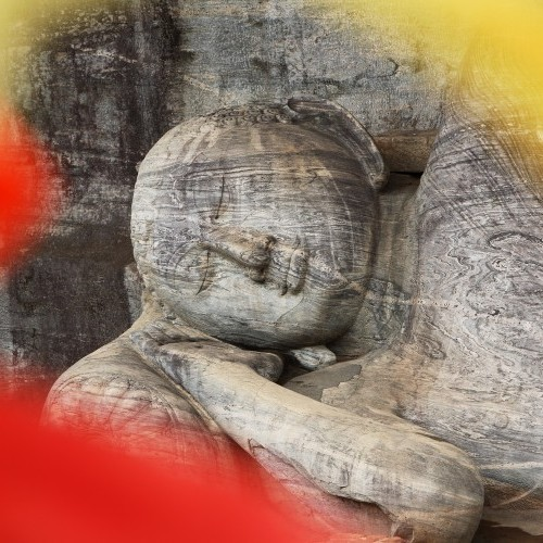 Reclining Buddha at Gal Vihara, Polonnaruwa, Cultural Triangle, Sri Lanka