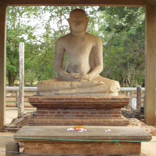 Samadhi Buddha statue at Abhayagiriya Vihara, Anuradhapura, Sri Lanka