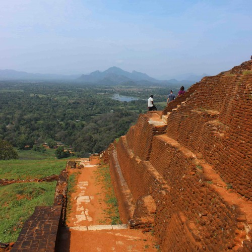 Wandering around the summit, Sigiriya, Sri Lanka