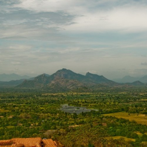 View from the summit south to the Hill Country, Sigiriya, Sri Lanka