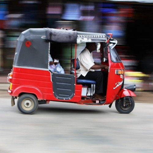 Rushing around in a tuk tuk, Sri Lanka