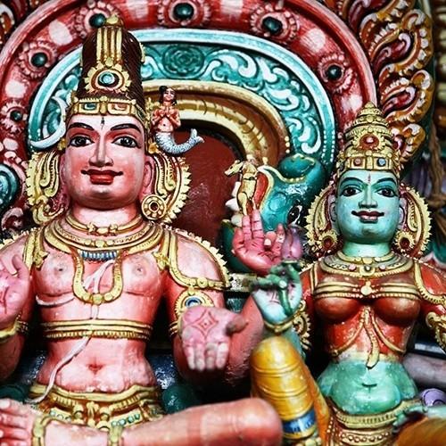 Hindu temple detail, Sri Lanka
