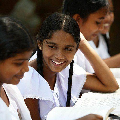 Girls at Buddhist Sunday School, Kandy, Sri Lanka