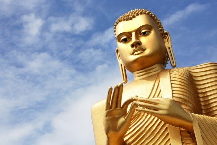 Golden Buddha at Dambulla cave temples, Sri Lanka
