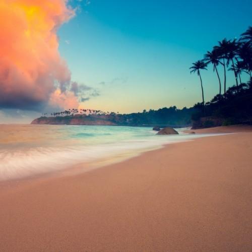 Sunset on the beach, Weligama, Sri Lanka