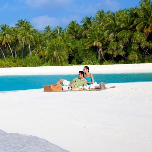Private lunch on a deserted atoll, Angsana Ihuru, Maldives