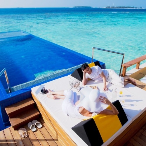 Luxurious In-Ocean Pool Villa ideal for a honeymoon extravaganza, Angsana Velavaru, Maldives